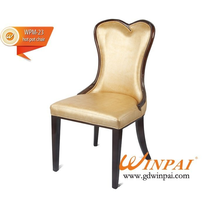 2015 wooden chairs for hot pot restaurant, hotel, banquet, dining places-WINPAI
