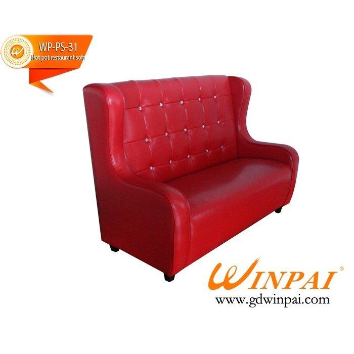 Good desigh hot pot restaurant deck sofa-WINPAI