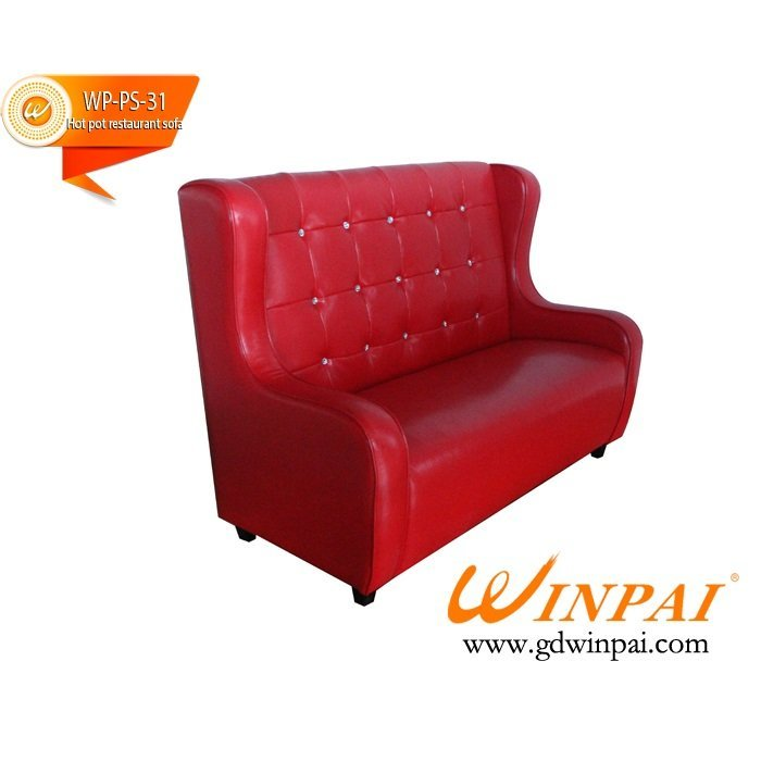 Good desigh hot pot restaurant deck sofa-WINPAI
