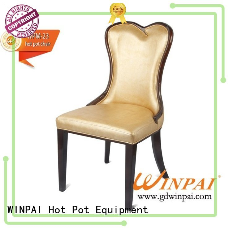 WINPAI style wooden dining chair manufacturer for living room
