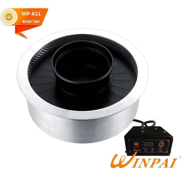 Korean smokeless BBQ Grill with hot pot-WINPAI