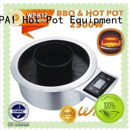 WINPAI high efficiency Hot Pot And BBQ Grill pot for villa