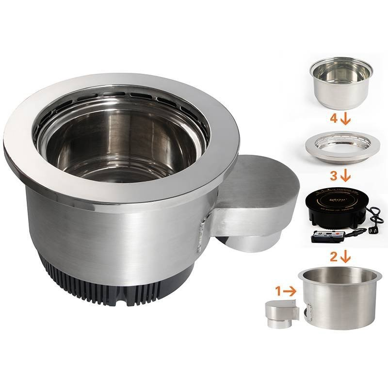 Smokeless electrichotpotinductioncooker WINPAI