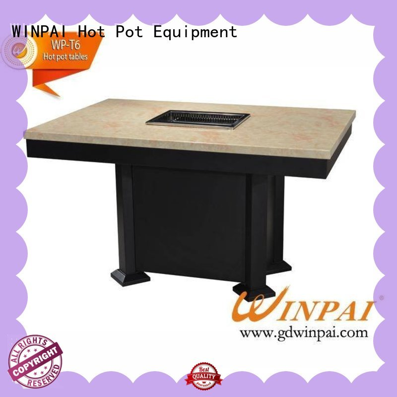 WINPAI safety octagon grill picnic table factory for cafes