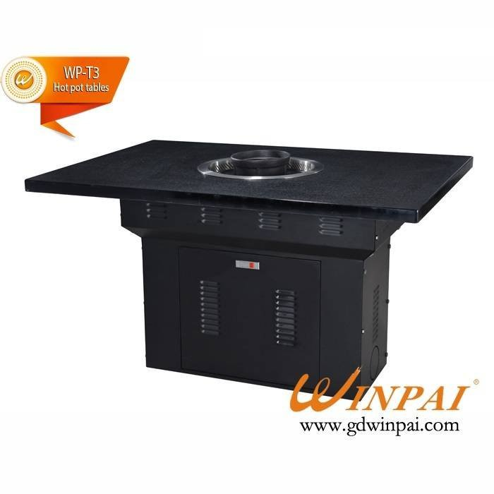 Grilled one square dining table Hot pot-Winpai