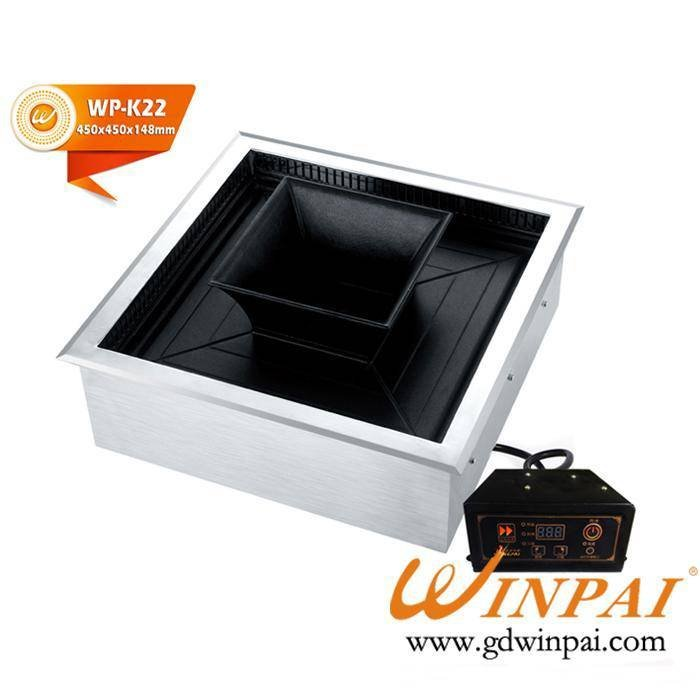 2016 WINPAI high efficiency electric bbq grill with hot pot for sale