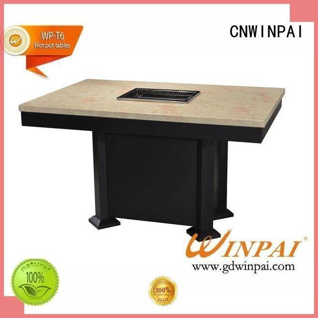 CNWINPAI iron base korean bbq grill table tables square