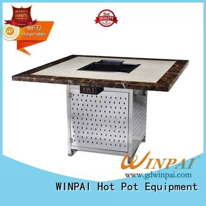WINPAI smokeless stainless steel pot supplier for star hotel