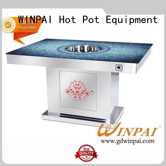 WINPAI chinese hot pot with grill manufacturer for cafe