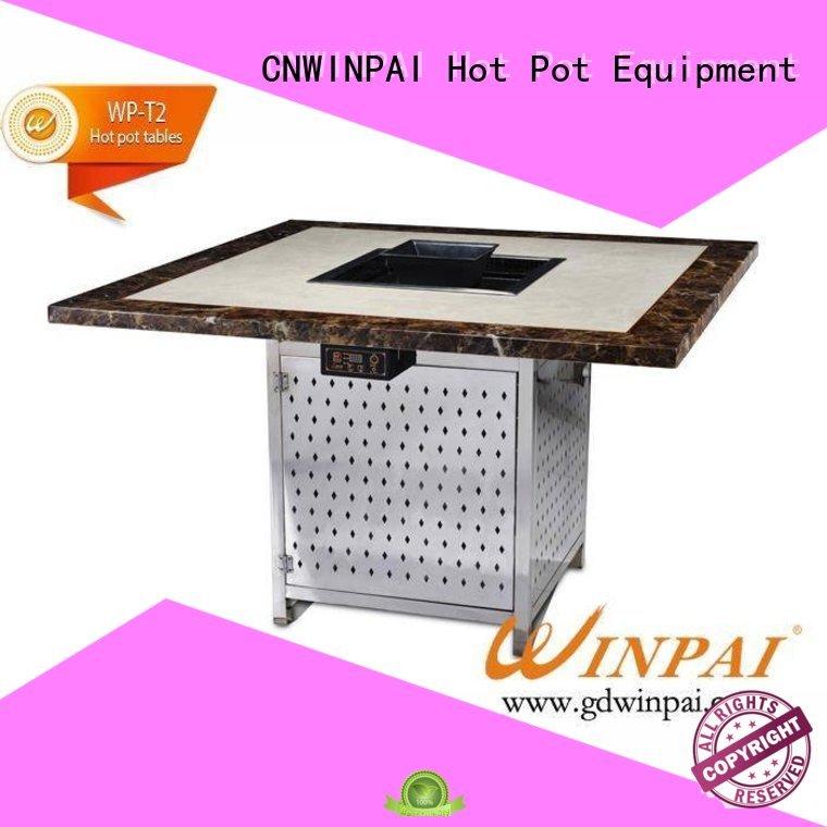 box leather barbecue CNWINPAI Brand shabu pot factory