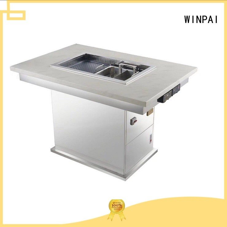 WINPAI cast sit around grill manufacturers for restaurant