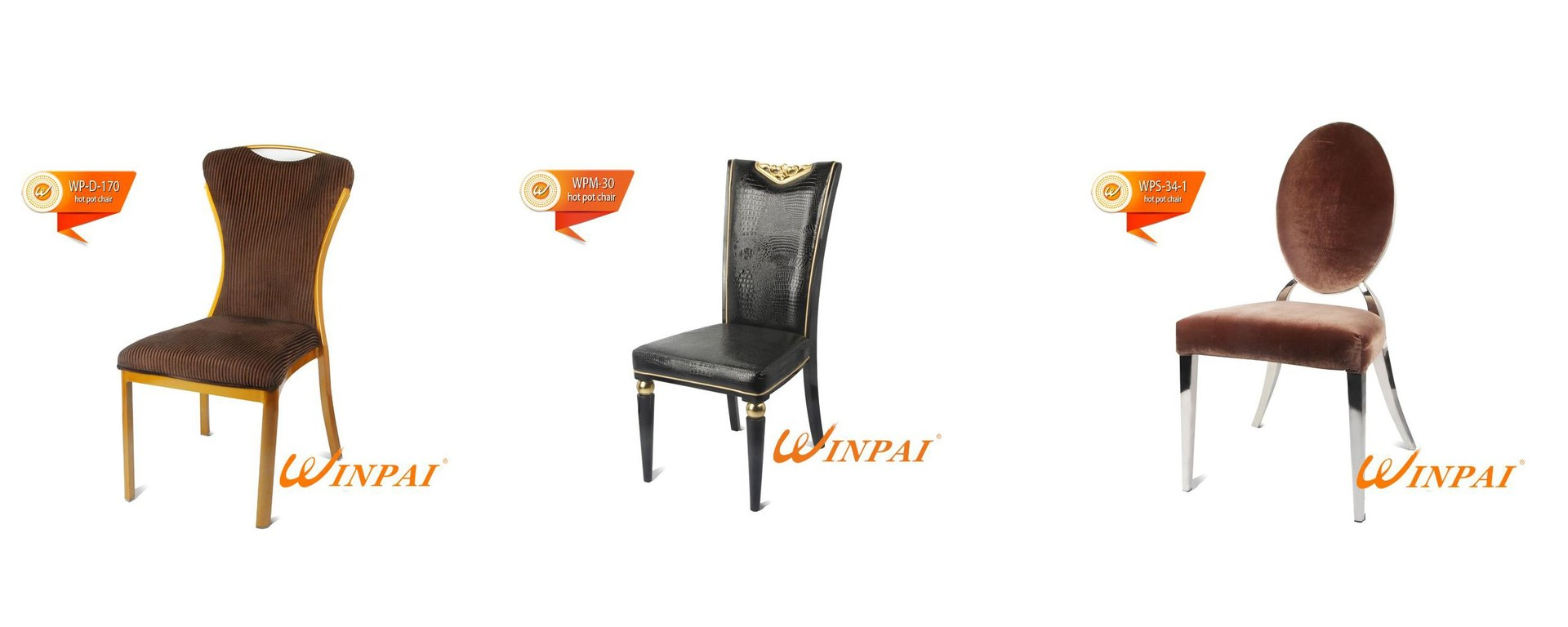 WINPAI Wholesale brushed stainless steel dining chairs Suppliers for home