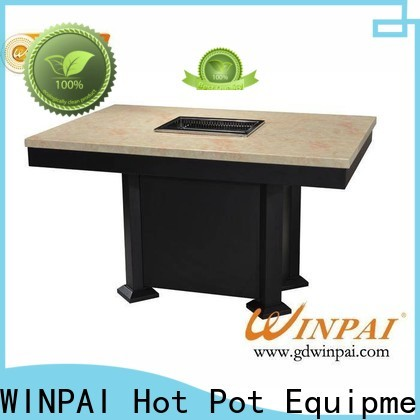 WINPAI New 8 seater bbq table supplier for cafe