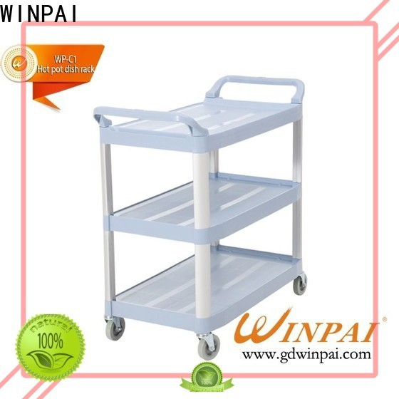 WINPAI wodden sandwich delivery trolley manufacturer for restaurant
