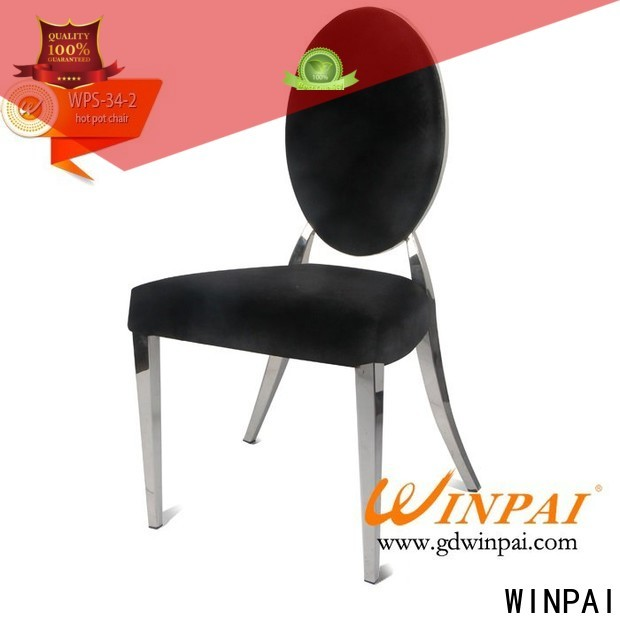 WINPAI produced metal cafe dining chairs factory for home
