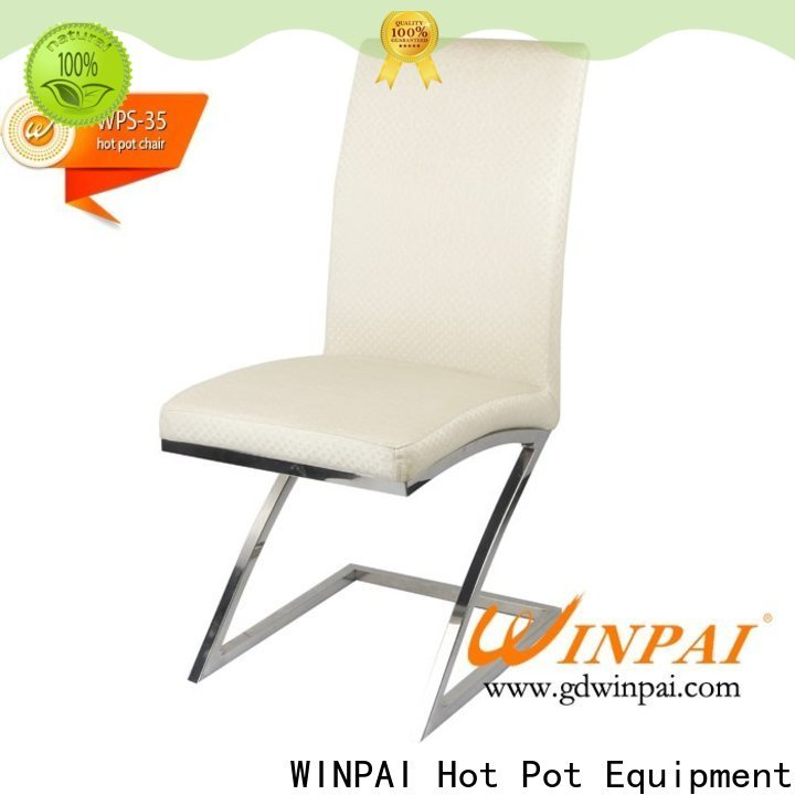 WINPAI american white metal dining room chairs for business for living room