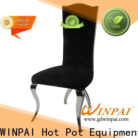 WINPAI dining red metal restaurant chairs manufacturers for dinning room