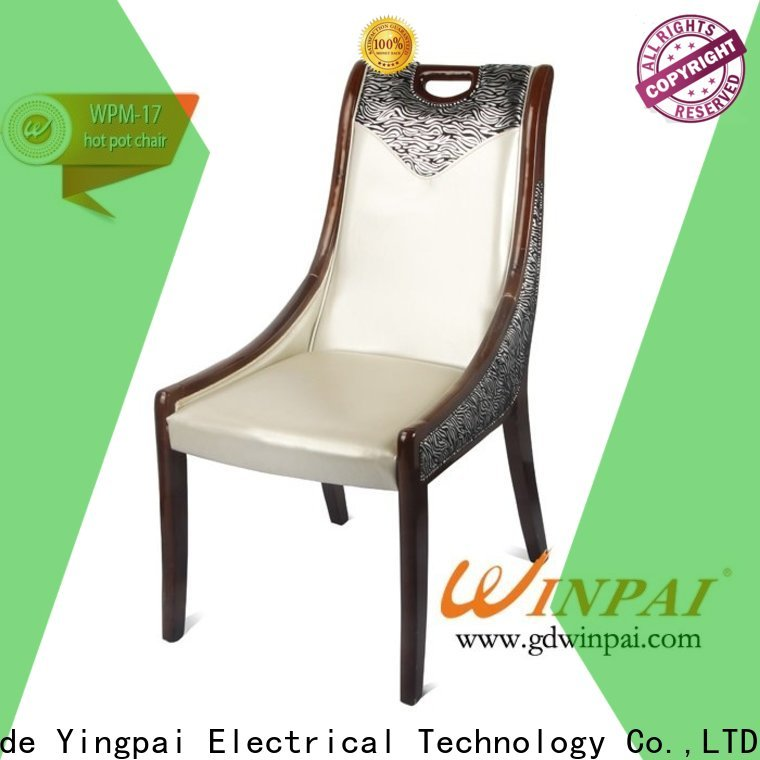 WINPAI black large wooden armchair manufacturers for restaurant