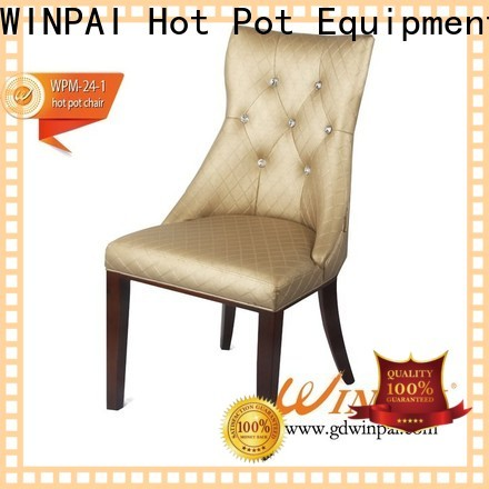 WINPAI High-quality rotating wooden chair factory for restaurant