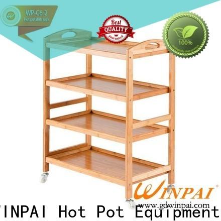 Latest trolley cart cafe pot factory for hot pot shop