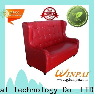 New modern sofa company deck supplier for restaurant
