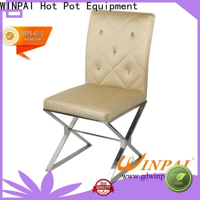 WINPAI chinese metal chairs red company for restaurant