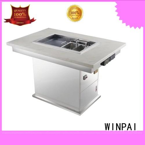 WINPAI professional bar b que table manufacturer for restaurant