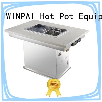 WINPAI cast korean barbecue grill table manufacturer for cafe