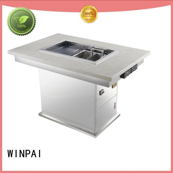 WINPAI cast korean bbq grill table manufacturers for cafes
