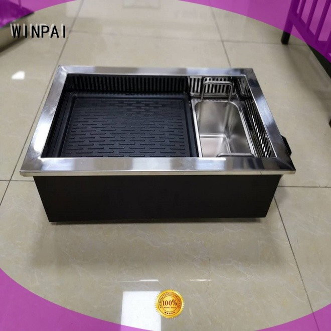 WINPAI smokeless hot pot table supplier wholesale for home