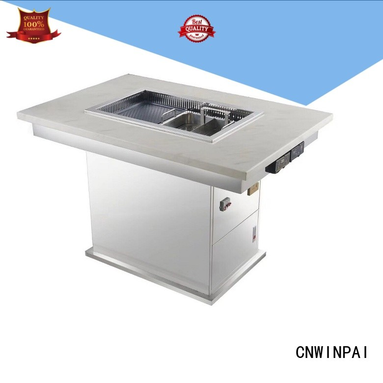 chinese steamboat cooker supplierwinpai steel korean bbq grill table CNWINPAI Brand